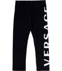 young versace elasticated waist leggings