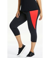 colourblock capri leggings