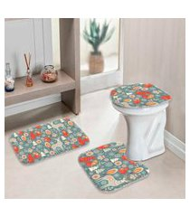 jogo tapetes de natal para banheiro bichinhos com elementos único