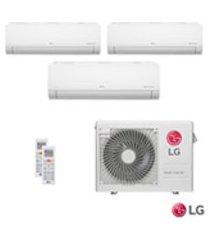 ar condicionado multi split inverter lg com 2 x 7.200 btus + 1 x 8.500 btus, quente e frio, turbo branco - a3uw24gfa2