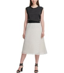 dkny pleated midi skirt