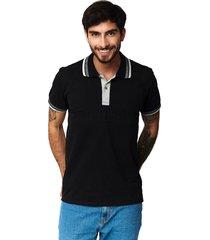 camiseta tipo polo-puntazul-negro-41431