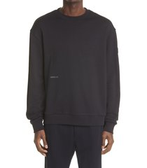 moncler logo graphic cotton sweatshirt, size xx-large in black at nordstrom