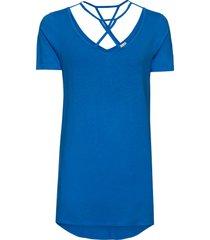 maglia con fondo asimmetrico e fettucce (blu) - bodyflirt