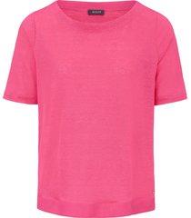 shirt van 100% linnen met boothals en korte mouwen van basler roze