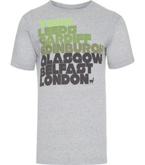 camiseta masculina cities - cinza