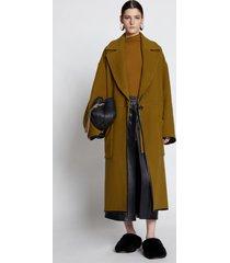 proenza schouler doubleface cashmere convertible coat light loden/green 2