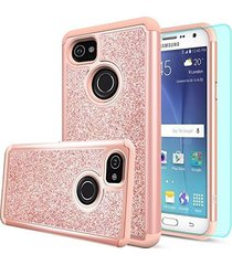 google pixel 2 xl case girls womens shockproof cover hybrid hd screen protector