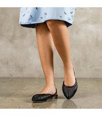 baleta punta roth negro
