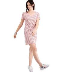 tommy hilfiger cotton v-neck dress