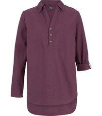 tunica lunga in misto lino (viola) - bpc bonprix collection