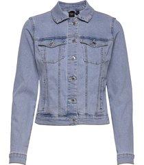vmhot soya ls denim jacket mix ga noos jeansjacka denimjacka blå vero moda