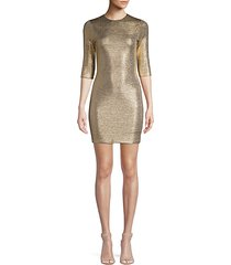 delora metallic mini bodycon dress