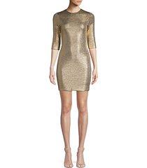 delora metallic mini bodycon dress