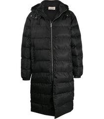 1017 alyx 9sm padded mid-length coat - black