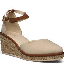 wedgeville wedge san sandalette med klack espadrilles creme gant