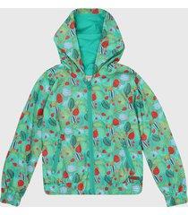 chaqueta verde-multicolor boboli