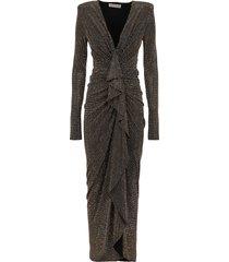 alexandre vauthier studded long v dress