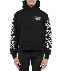 amiri black grateful dead bones hoodie
