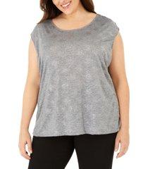 calvin klein plus size studded sleeveless top