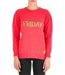 maglione maglia donna girocollo rainbow week friday