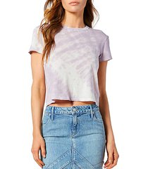 rain light tie-dye crop t-shirt