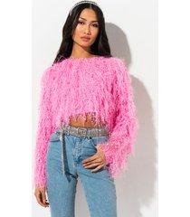 akira rehab clothing poetic justice fringe knit sweater