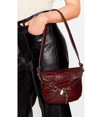 womens want croc's going on shoulder bag - chocolate
