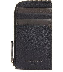 men's ted baker london leather zip card case - blue