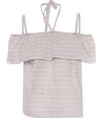 blusa feminina anastacia - bege