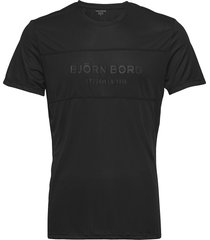 blocked tee sthlm sthlm t-shirts short-sleeved svart björn borg