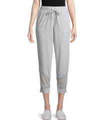 max studio women's heathered jogger pants - heather grey - size xs