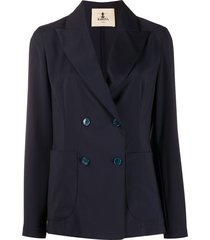 barena long sleeve double buttoned blazer - blue