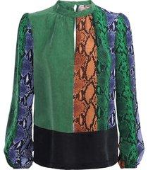 summum 2s2299-10978 120 top snake cupro multicolour groen