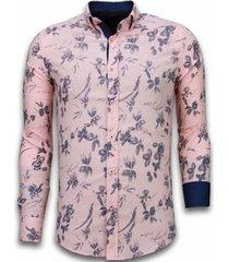 overhemd lange mouw tony backer blouse hawaii pattern