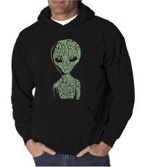 la pop art men's word art hoodie - area 51
