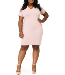 plus size women's poetic justice evelyn grommet detail tulip hem dress