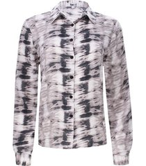 camisa estampada difuminada color negro, talla 10