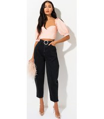 akira coffee run high waisted mom jean with belt