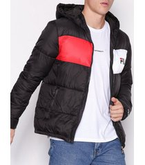 fila floyd puff hood jacket jackor black