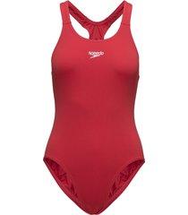 endurance+ medalist baddräkt badkläder röd speedo
