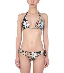 bikini swimsuit with mix patchwork print