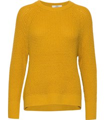 sweaters stickad tröja gul edc by esprit