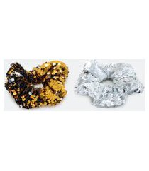 kit 2 scrunchies de paetê | accessories | multicores | u