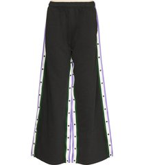 y/project reversible cotton track pants - grey