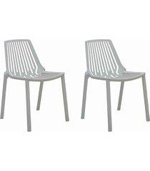 conjunto 02 cadeiras morgana branca