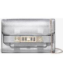 proenza schouler chain ps11 clutch 1112 silver one size