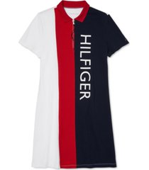 tommy hilfiger adaptive women's zip polo dress