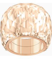 anello swarovski nirvana, tono dorato, pvd oro rosa