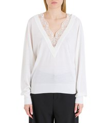 chloé sweater with lace insert